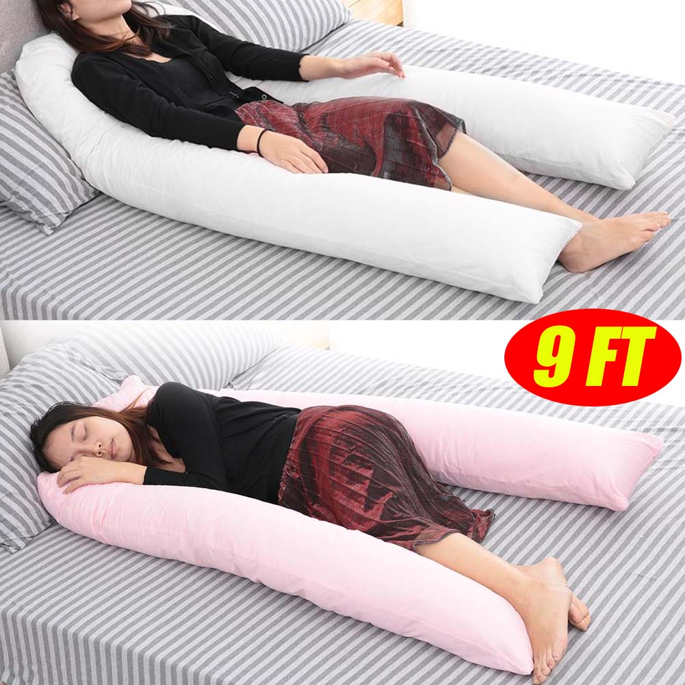 12 /& 9 FT Long C/_U Shaped Long Cuddly Maternity Pregnancy Support Pillow