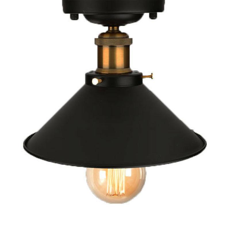 Retro Vintage Industrielle Wind Schwarz Deckenlampe Hängelampe Schirm E27 DE