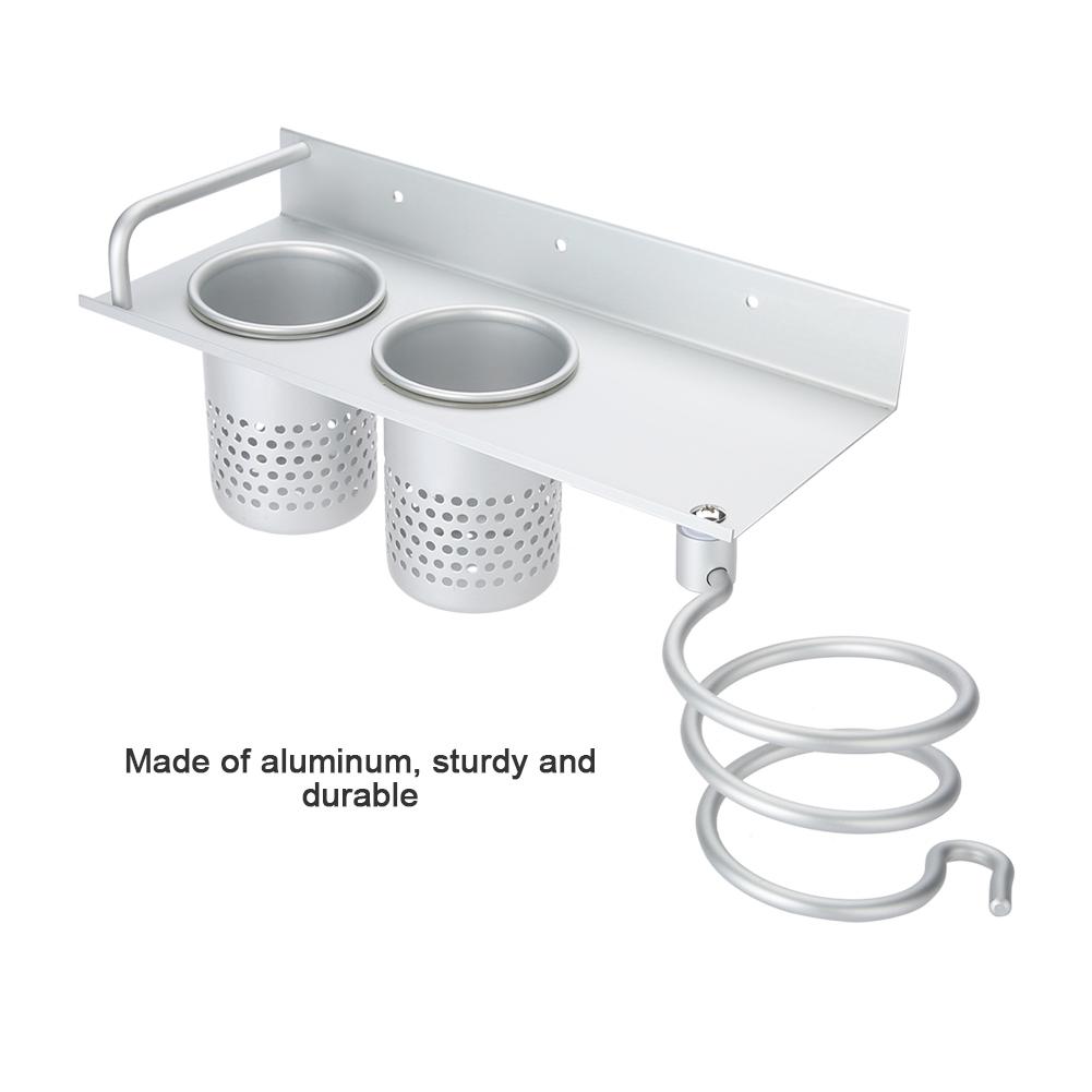 NEU Haartrocknerhalter Fönhalter Fönhalterung Silber Badezimmer Ablage Edelstahl