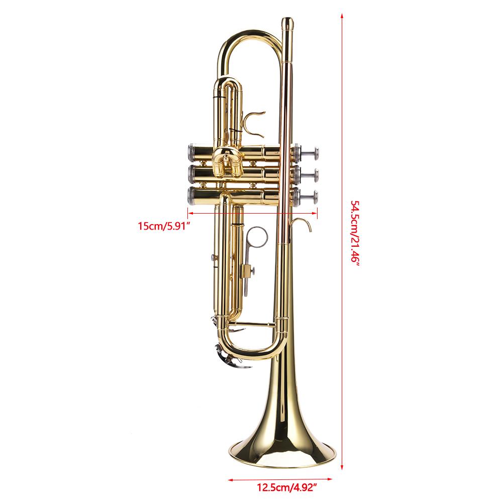 Trompete Konzerttrompete Trumpet mit Zubehör Tasche für Anfänger Orchester NEU++
