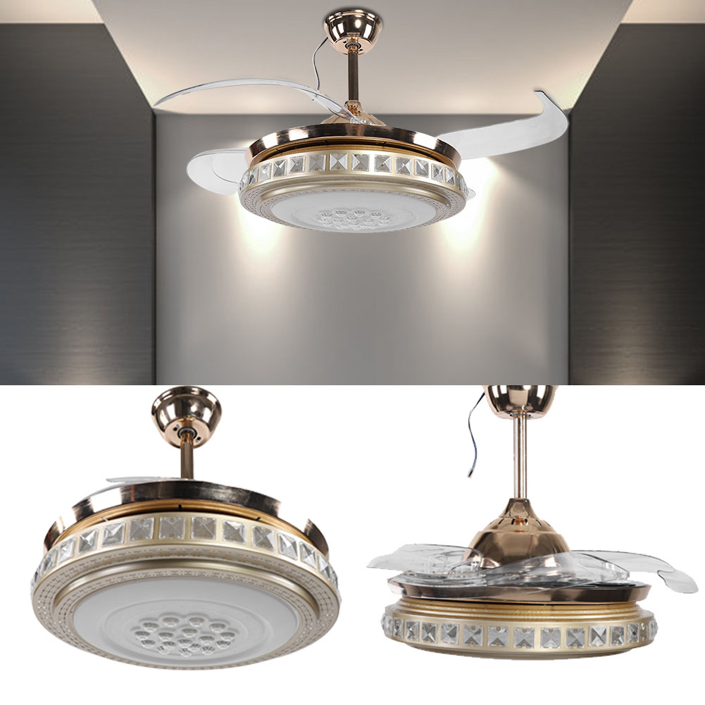 Crystal Led Ceiling Fan Color Changing