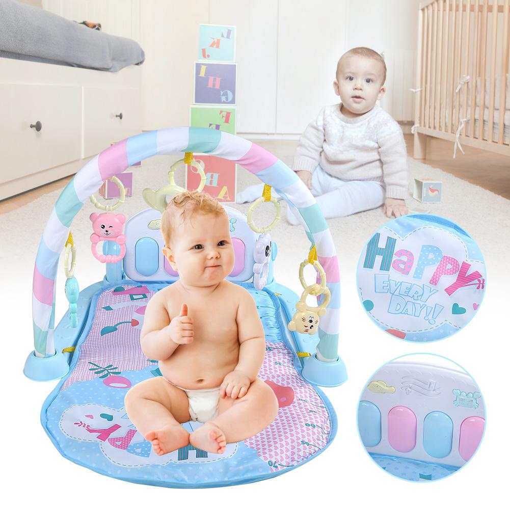Krabbeldecke Musikalische Spieldecke Spielbogen Baby Piano Fitness  Musikmatte A