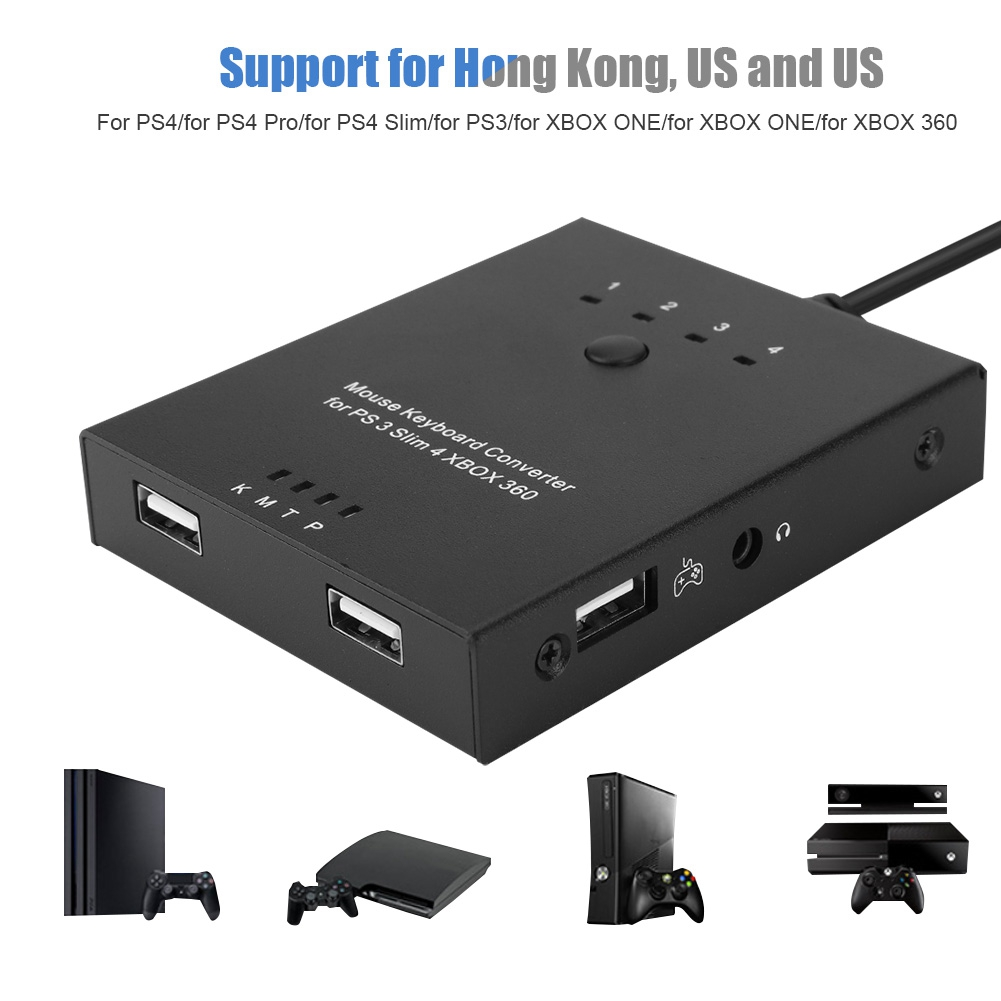 Details about Mouse and Keyboard Converter Adapter for PS4/XBO XONE/XBOX  360 Switch Device JS