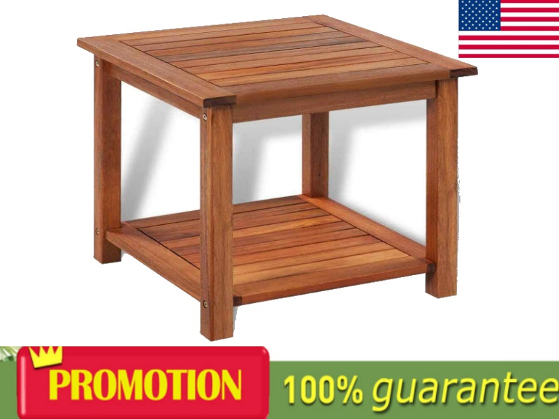 Details About Wooden Side Table Nightstand Plant Telephone Stand Poolside  Table 2 Storey Table