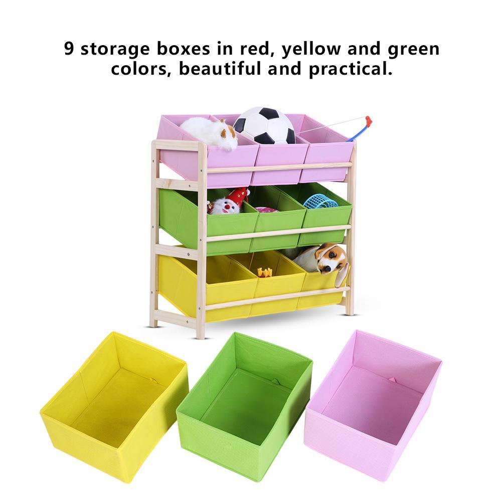 Kinderregal Spielzeugbox Spielzeugkiste Aufbewahrungsregal Aufbewahrungsboxen DE