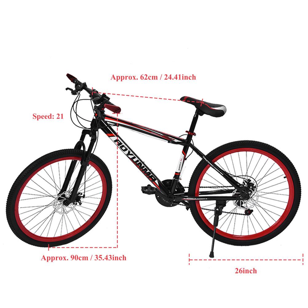 mtb mountainbike 26 zoll scheibenbremsen fahrrad 21 gang. Black Bedroom Furniture Sets. Home Design Ideas