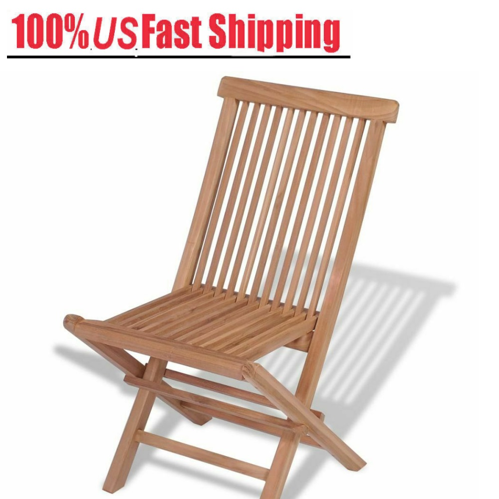 Fantastic Details About 4X Teak Outdoor Folding Chairs Garden Lounge Chair Bistro Chair Portable Outing Cjindustries Chair Design For Home Cjindustriesco