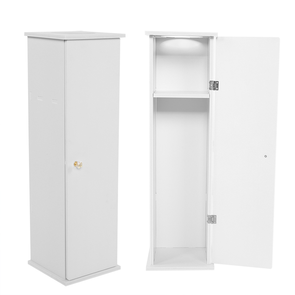 Wooden Bathroom Cabinet Storage Shelf Free Standing Toilet Paper Cupboard White