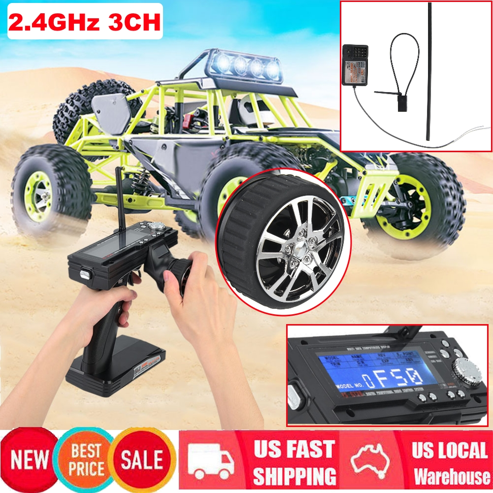 For RC Car Vehicle Boat FS-GT3B 2.4G 3CH Gun Transmitter Receiver 3 Way Remote