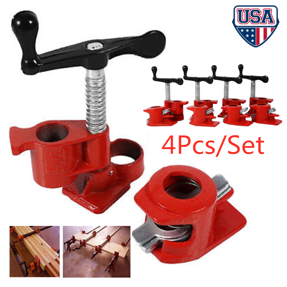 3//4/'/' Quick Release Heavy-Duty Wide Base Wood Metal Clamp Woodworking Workbench