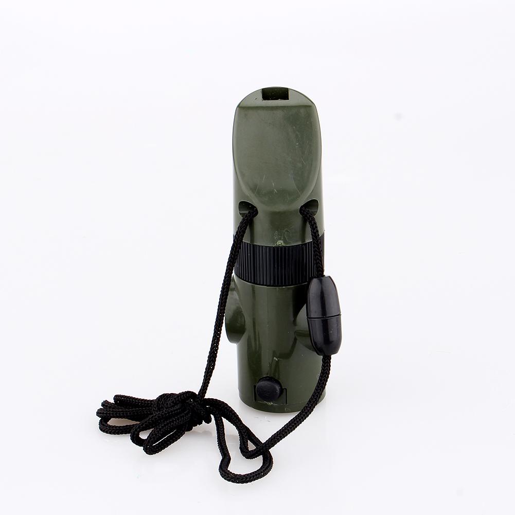 7 en 1 Urgence Survie Sifflet Boussole lumière de miroir Camping Kits 1pc