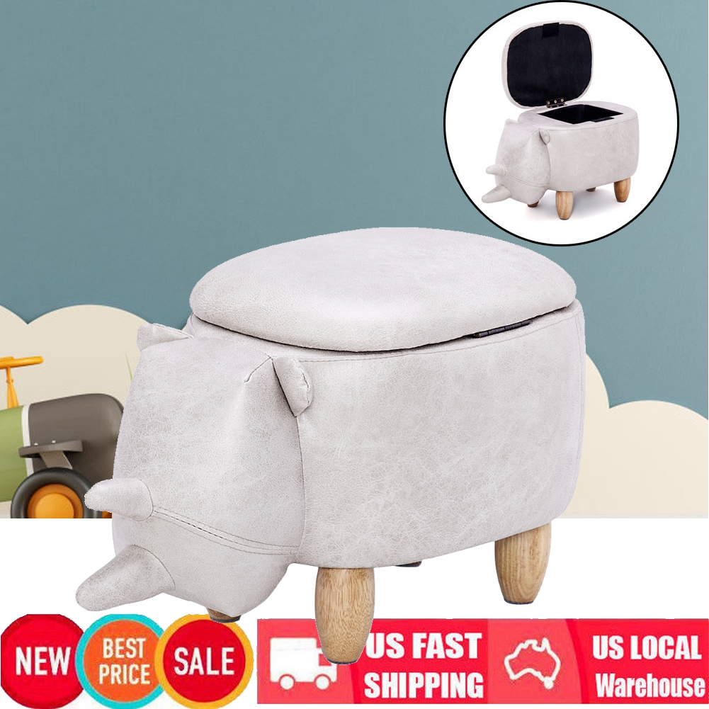 Excellent Details About Ottoman Kids Ride On Upholstered Storage Footrest Stool Animal Like Small Chair Short Links Chair Design For Home Short Linksinfo
