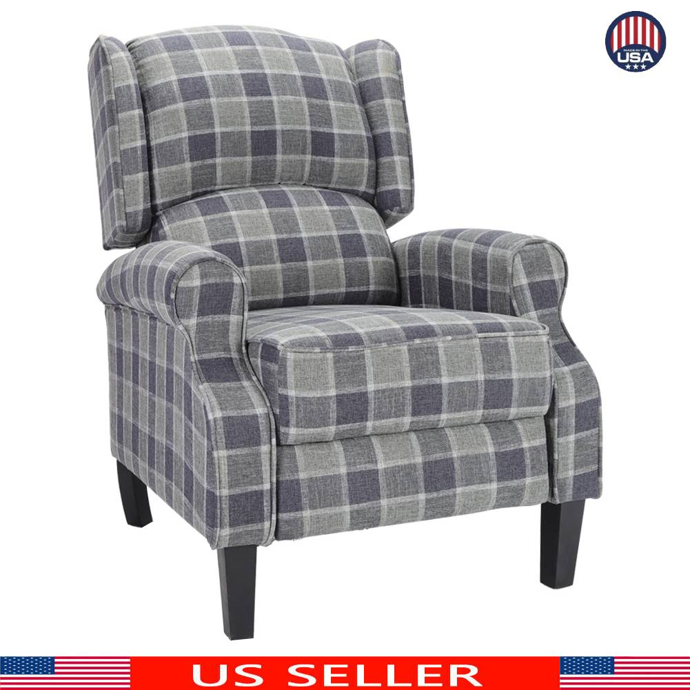 Wondrous Details About Grey Recline Chair Fabric Single Sofa Modern Reclining Seat Home Theater Seat Frankydiablos Diy Chair Ideas Frankydiabloscom