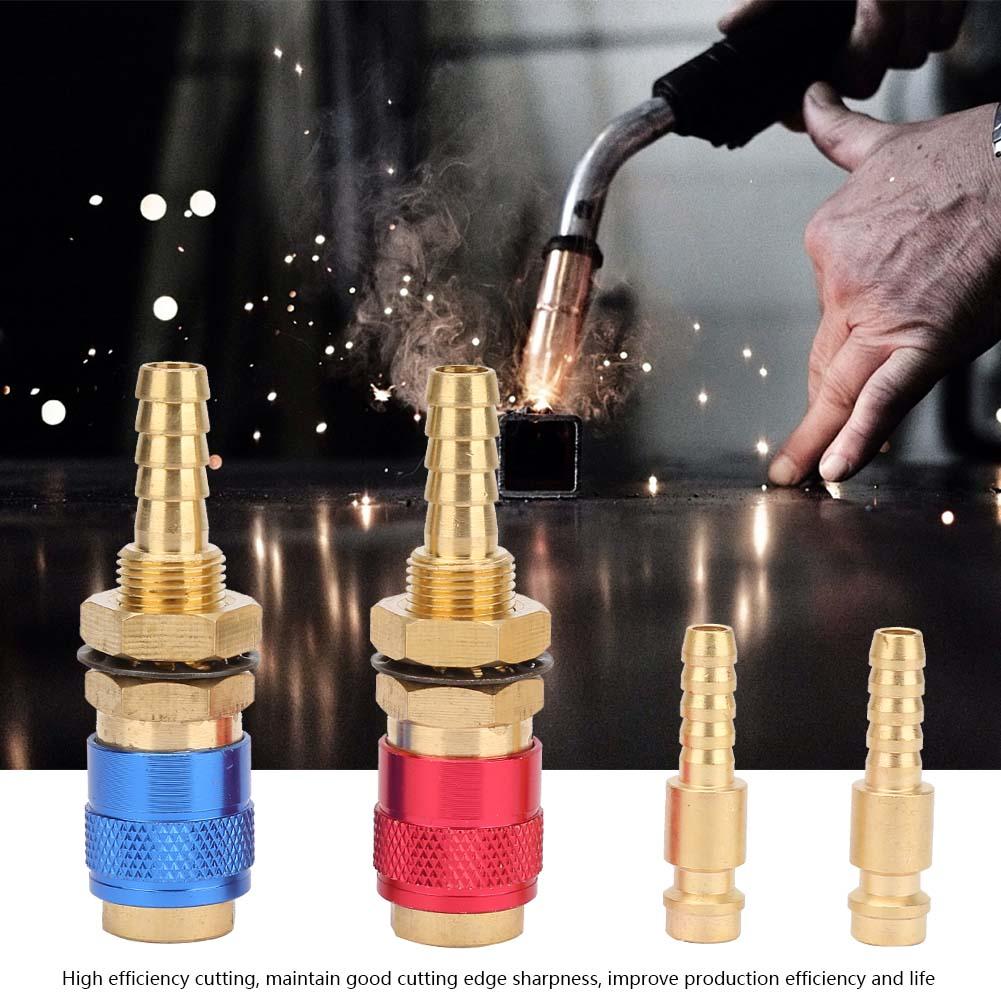 2 Stk TIG Wassergekühlt Adapter 8mm Schnellverbinder für WIG Schweißbrenner NEU/_