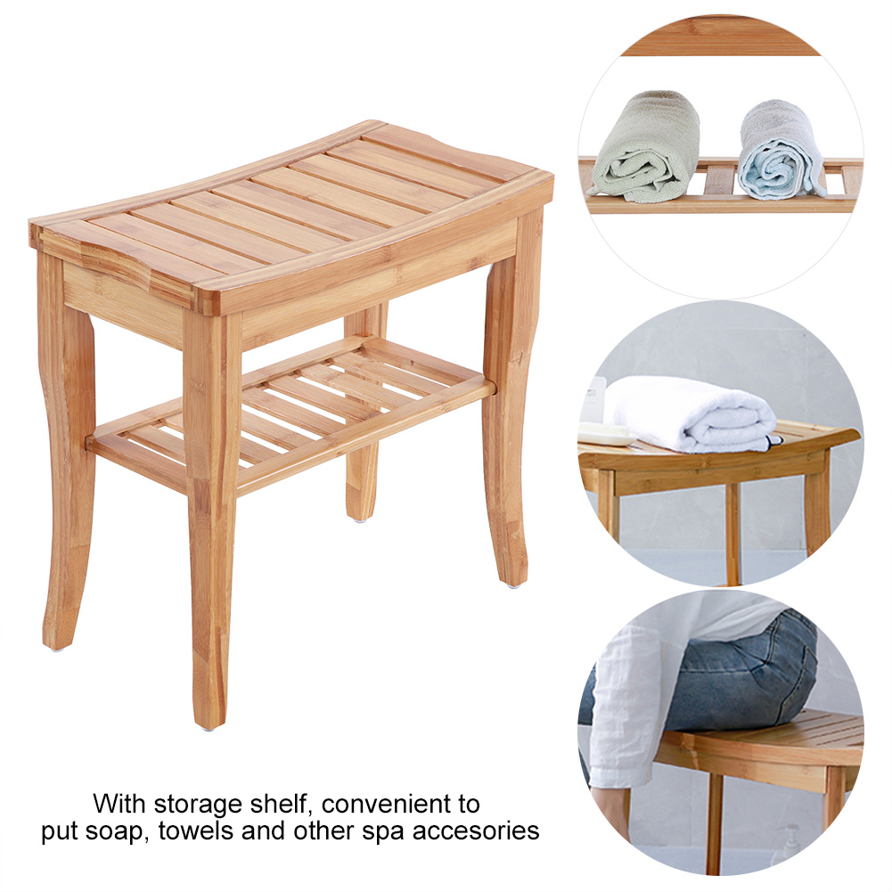 Brilliant Details About Bamboo Shower Stool Wood Bathroom Bench Seat Wooden Bath Spa Sauna Chair Shelf Onthecornerstone Fun Painted Chair Ideas Images Onthecornerstoneorg