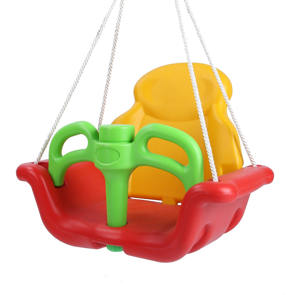 Baby Swing Seat Children Hanging Chair High Back Outdoor Wide Seat Belt Green