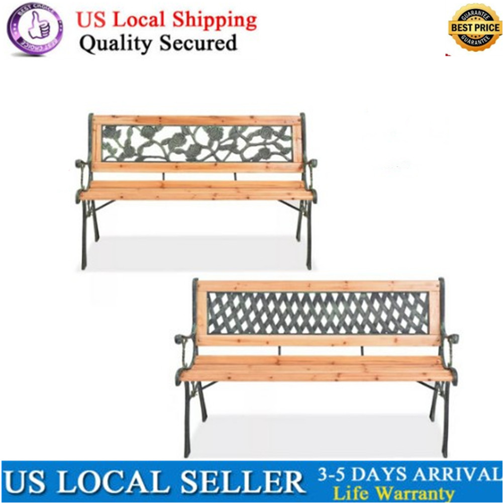 Magnificent Details About Modern Garden Bench Wood Backrest Patio Chair Park Porch Decorative Outdoor Gmtry Best Dining Table And Chair Ideas Images Gmtryco