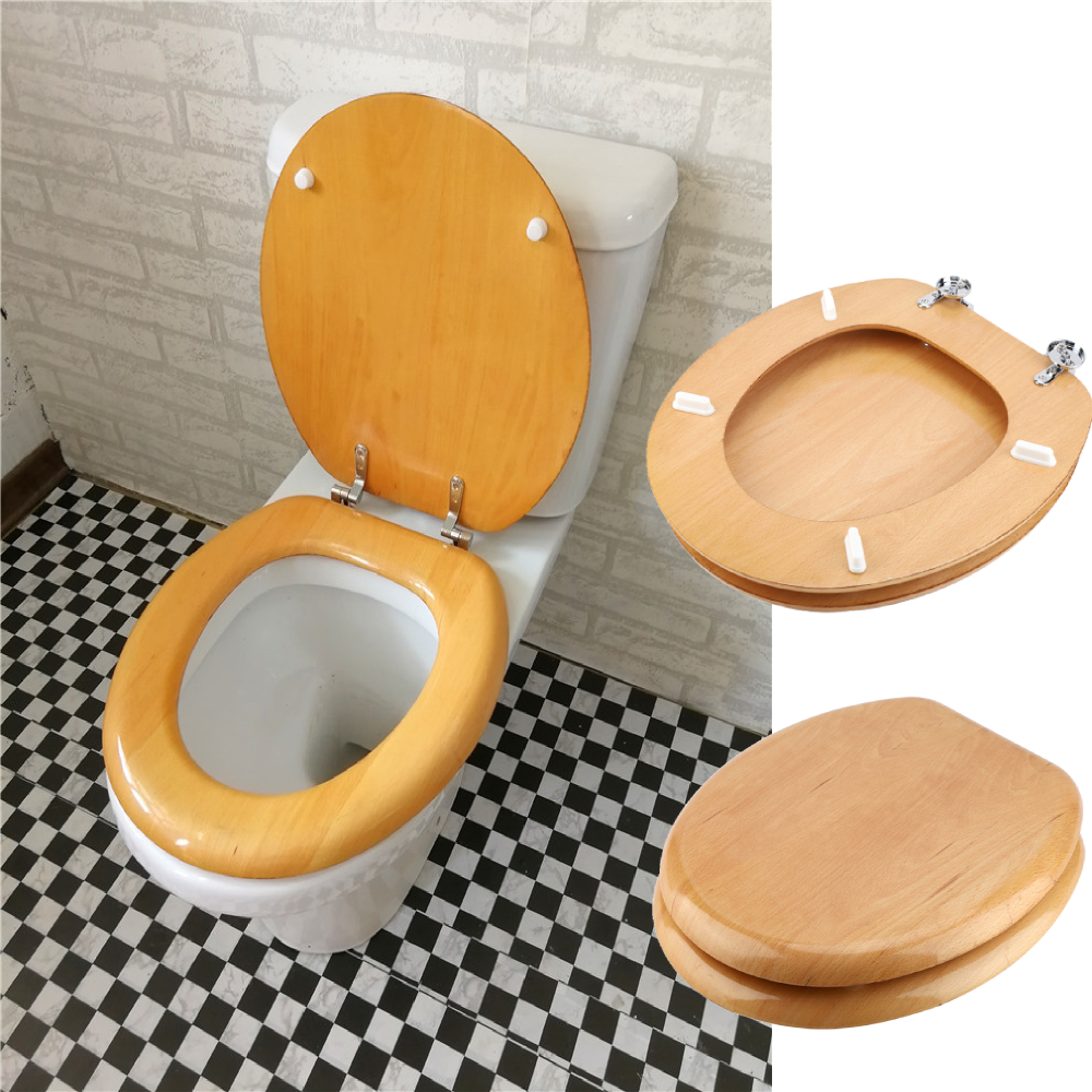 Pleasant Details About Quick Release Easy Close Toilet Seat Wood Round Oval Bathroom Heavy Duty Uk Gmtry Best Dining Table And Chair Ideas Images Gmtryco