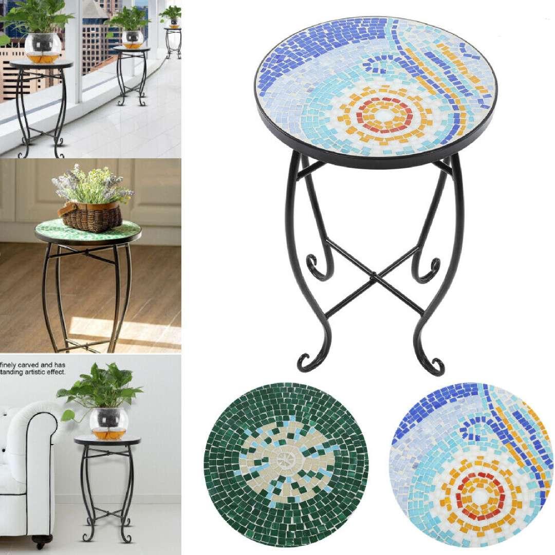 Mosaik Beistelltisch Bistrotisch Couchtische Garten Balkon Tisch Blumenhocker SD