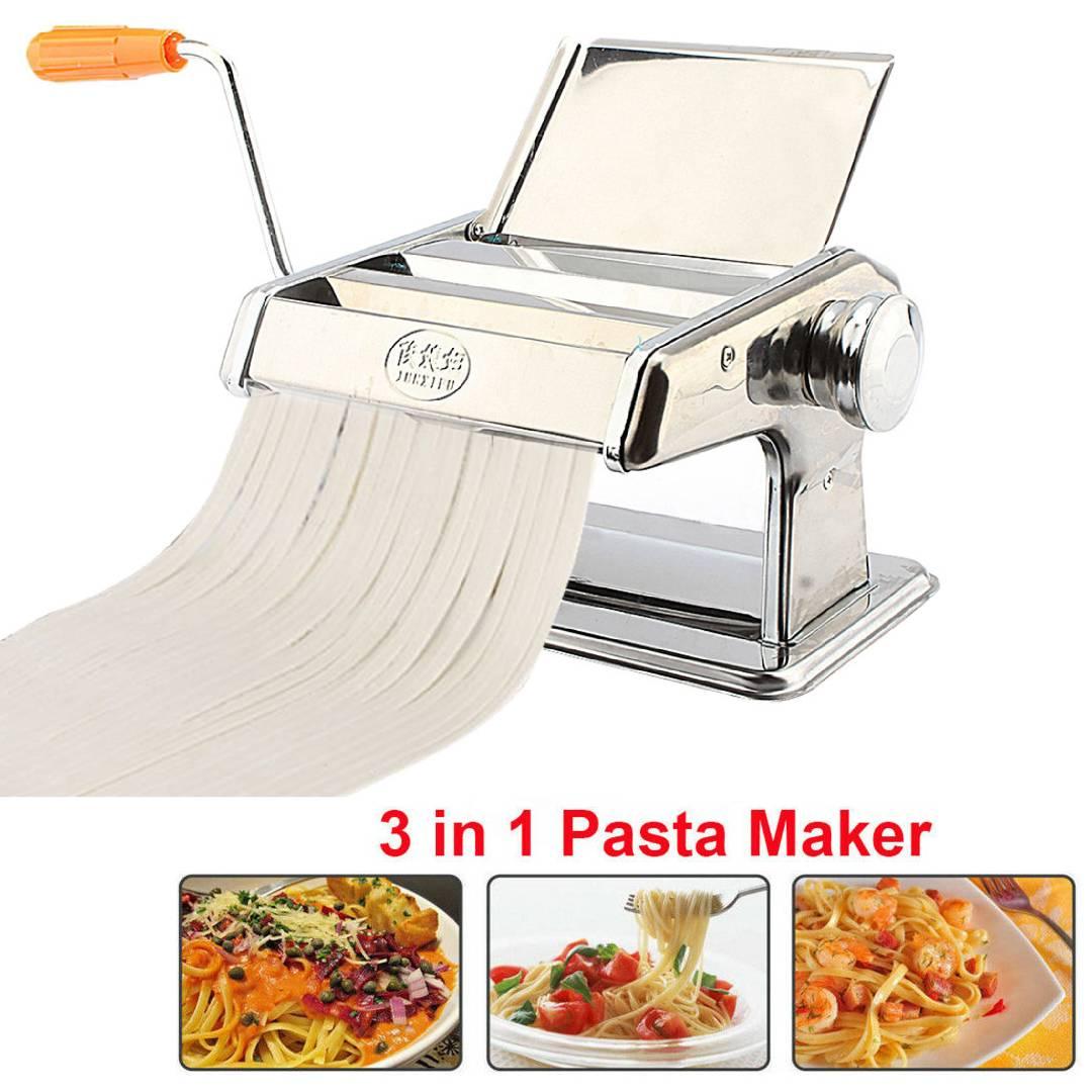 Nudelmaschine Edelstahl Pasta Pastamaschine Spaghetti Pastamaker Nudeln MESSER