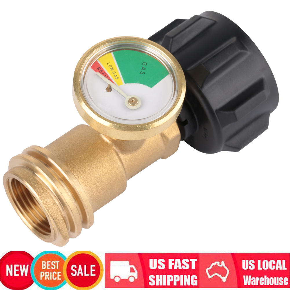 Details about Propane Tank Gauge Gas Grill Pressure Indicator Fuel Heater  Brass BBQ Golden US