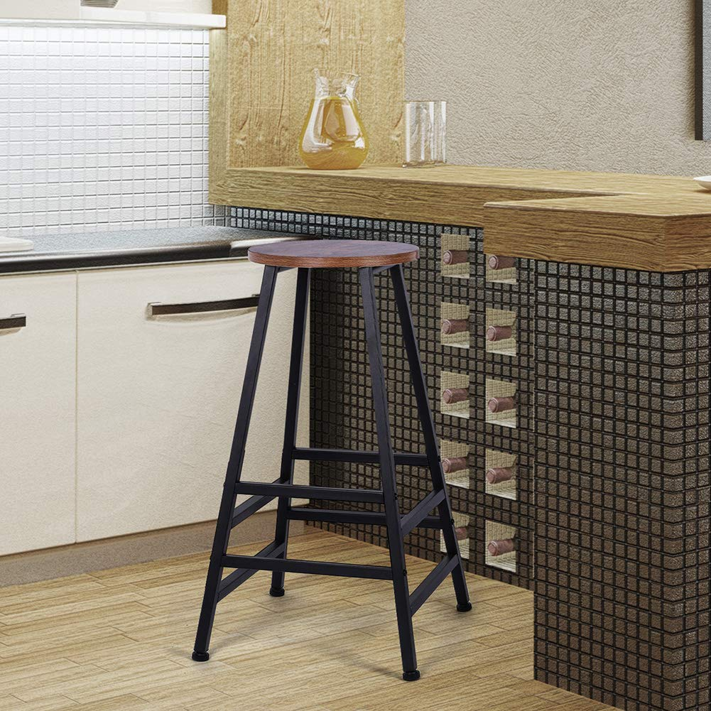 Cool Details About 28 Metal Bar Stools Counter Height Kitchen Stools Set Of 2 Backless Home New Short Links Chair Design For Home Short Linksinfo