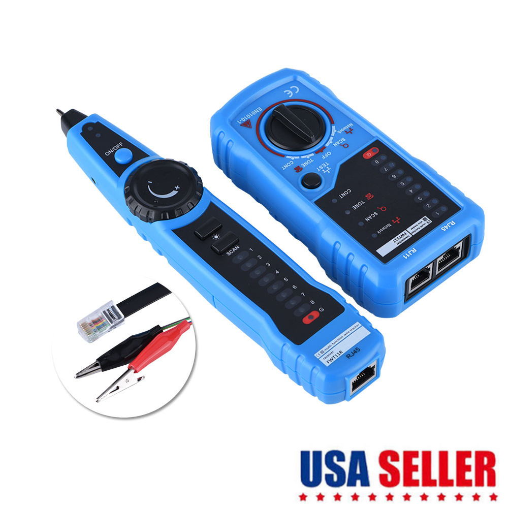 USA Ship Network Ethernet LAN Phone Tester Wire Cable Tracker RJ45 RJ11
