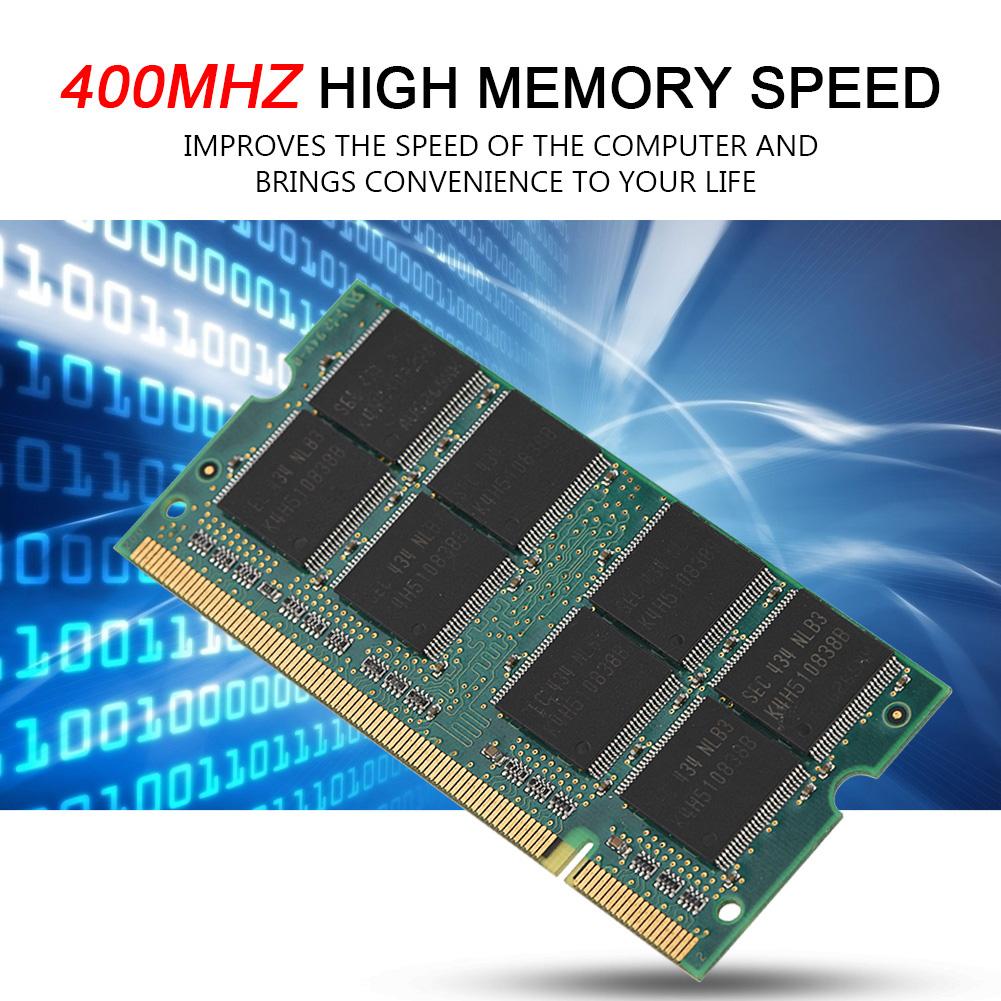 1GB Memory RAM DDR1 PC3200 400MHz 200Pin SODIMM Laptop Memory Module Board Card