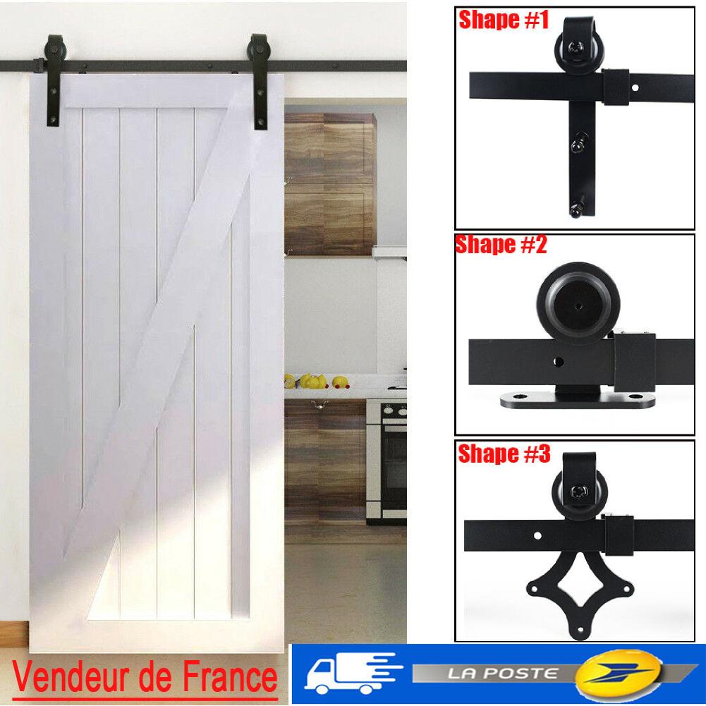 Porte Grange Coulissante Bois détails sur 6.6ft rail porte coulissante quincaillerie de grange kit roller  pour portes bois