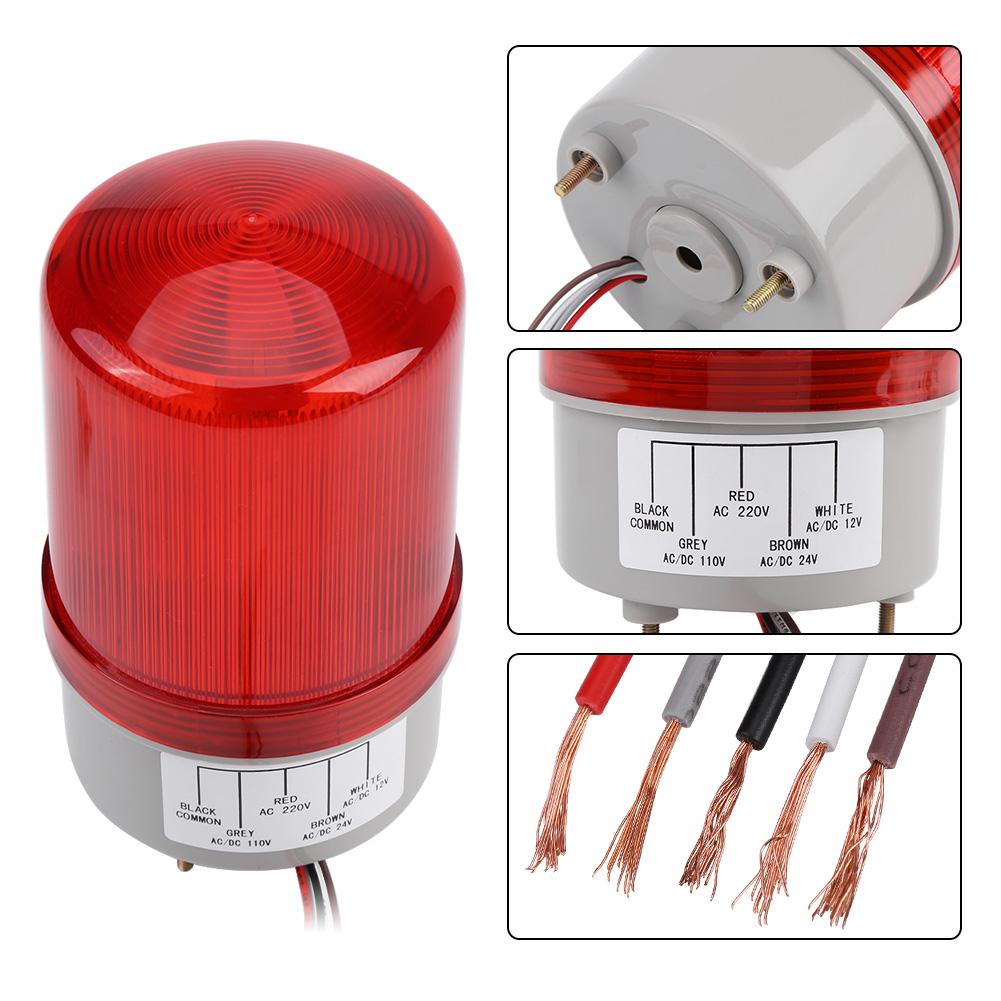 Sicherheitswarnleuchte Warnleuchte Blinklicht Buzzer Water Proof AC220V
