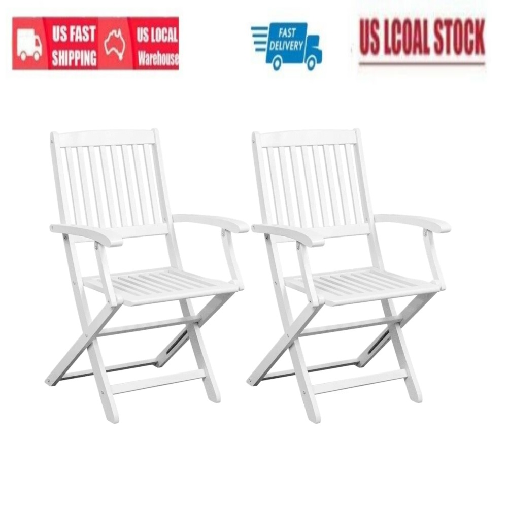 Superb Details About 2Pcs Portable Folding Dining Chairs Patio Garden Chair Party Chair Outdoor White Gmtry Best Dining Table And Chair Ideas Images Gmtryco