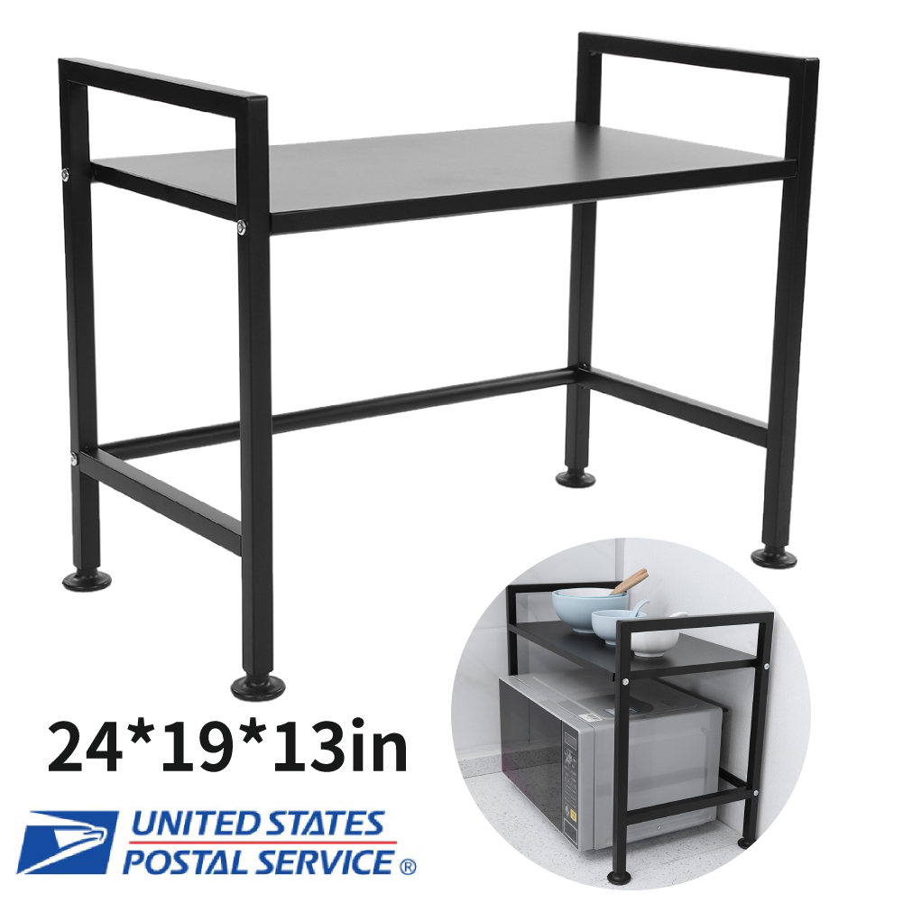 Details about Microwave Oven Rack Storage 2 Tier Stand Holder Kitchen  Counter Organizer Shelf