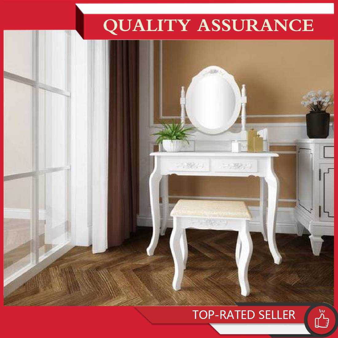 Outstanding Details About Vanity Makeup Dressing Table Set Stool 4 Drawers Built In Mirror Writing Desk Ocoug Best Dining Table And Chair Ideas Images Ocougorg