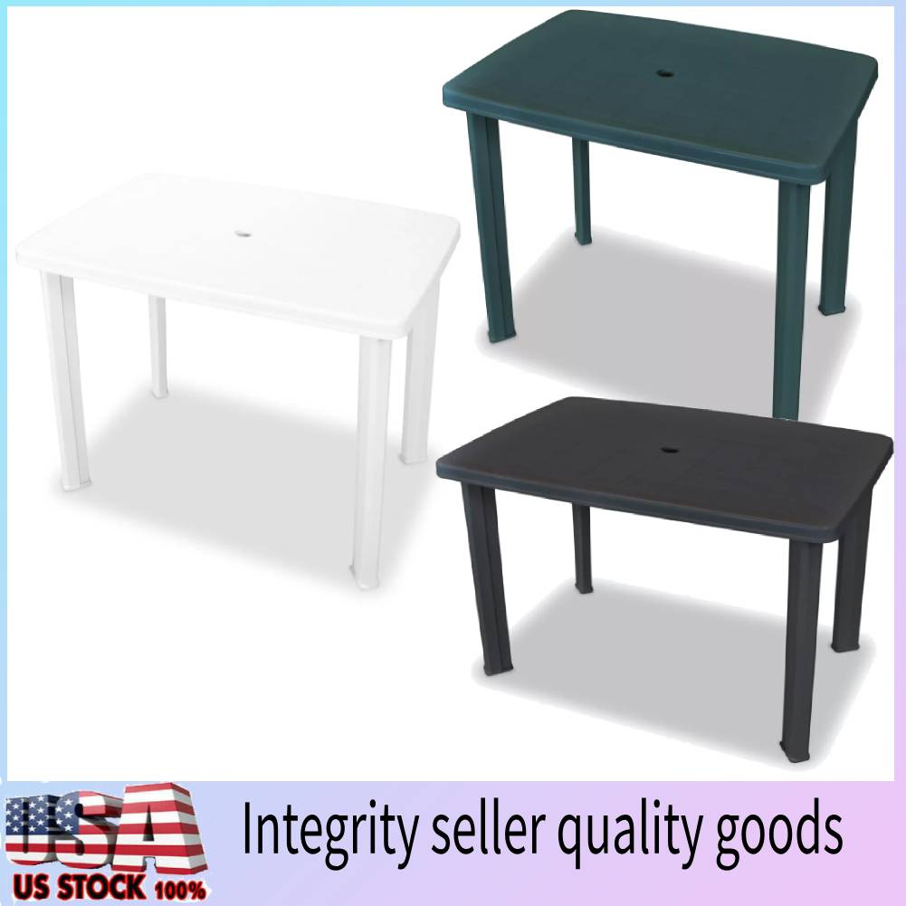Details About White Green Anthracite Plastic Side Table Outdoor Furniture Deck Garden Patio