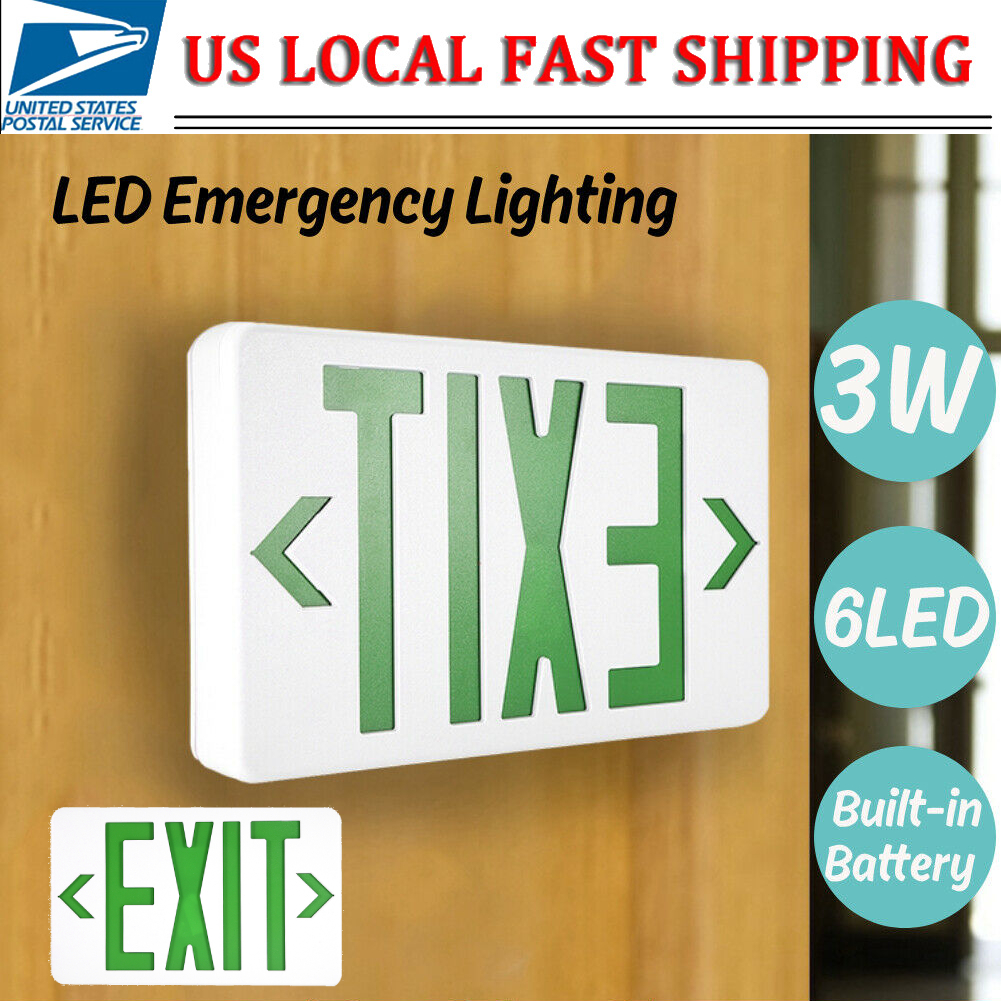 Green Edge-lit LED Indicating Sign Cashier Exit Light IP65 3W for Market