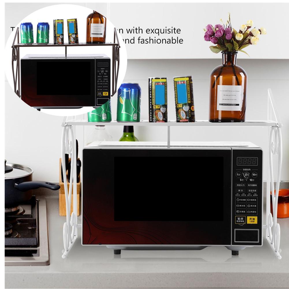 Küchenregal Mikrowellenhalter Mikrowelle Regal 2 Ablage Klappbar Küchen Schrank