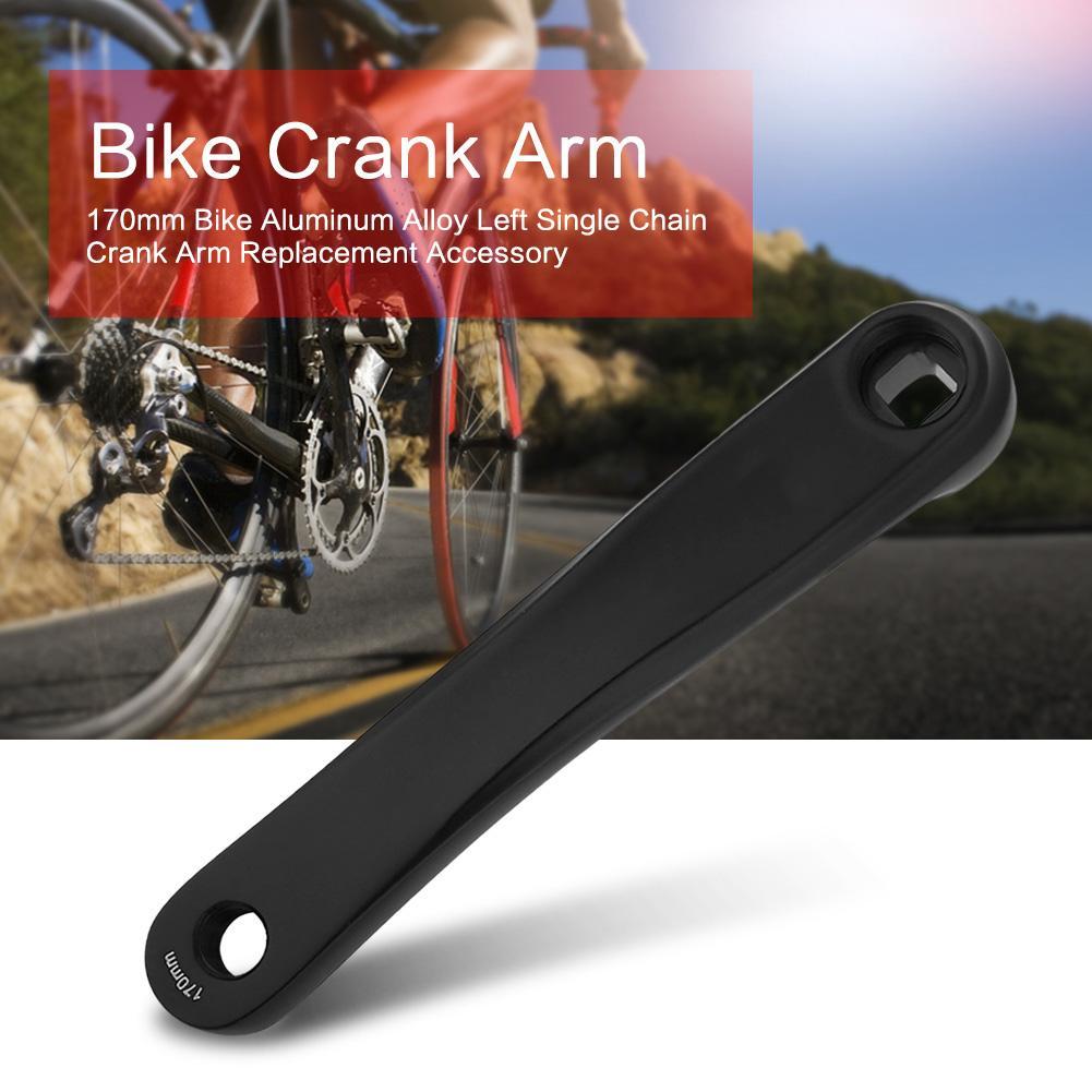 170MM Left Crank MTB Bike Road Bicycle Alloy Arm Crank Square Hole Black