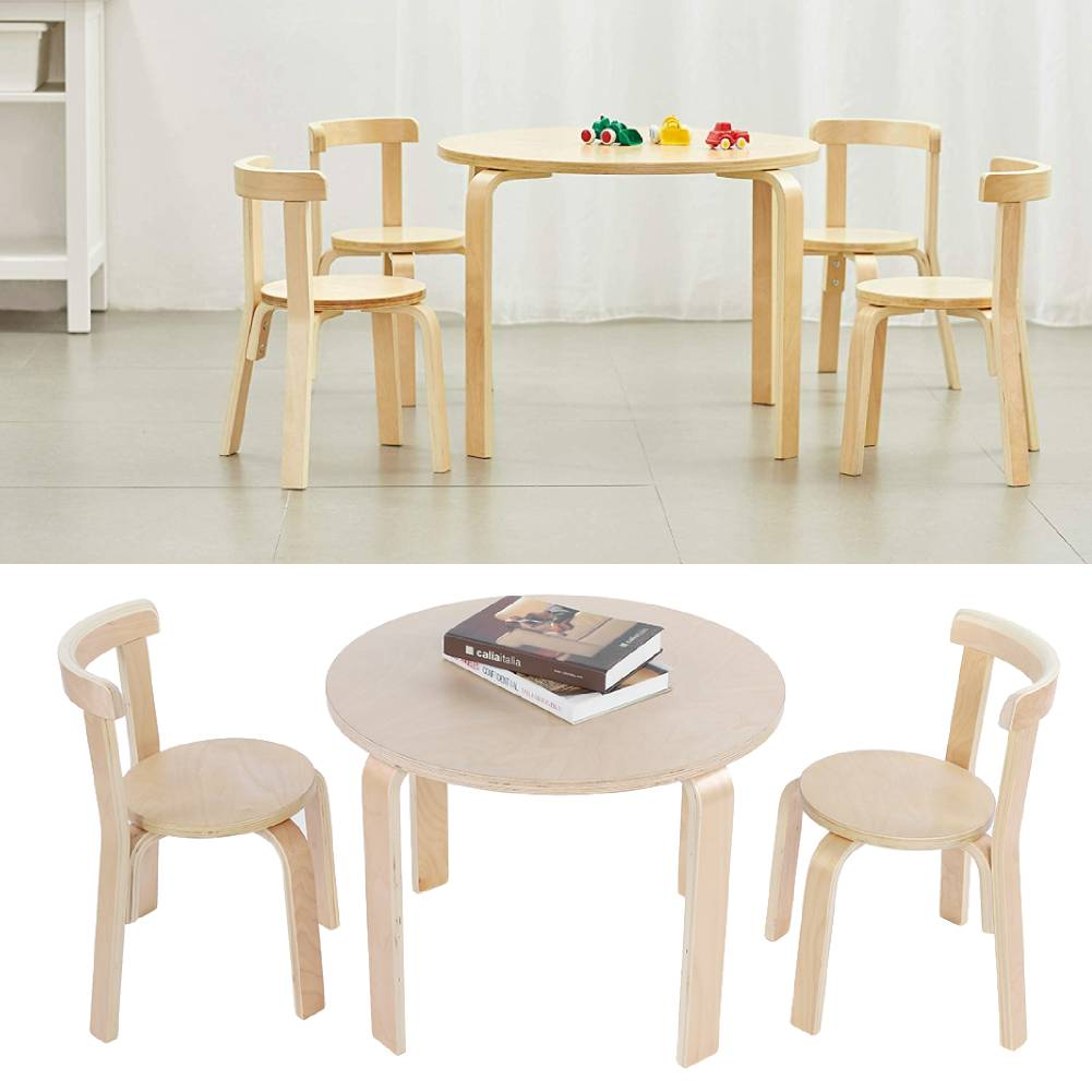 Details About Childrens Kids Wooden Play Table And Chairs Nursery Furniture Sets Playroom