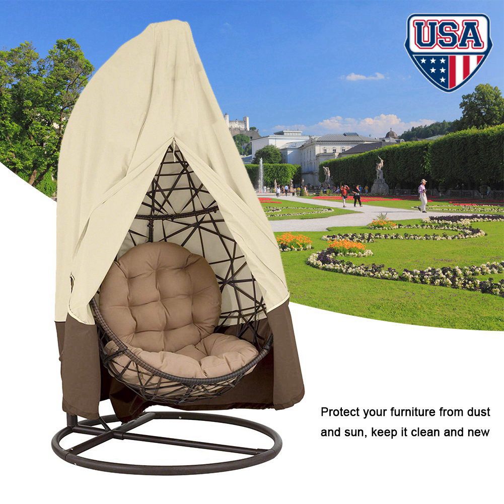 Waterpoof Rattan Egg Seat Protect Hanging Swing Chair Cover Garden Patio Outdoor