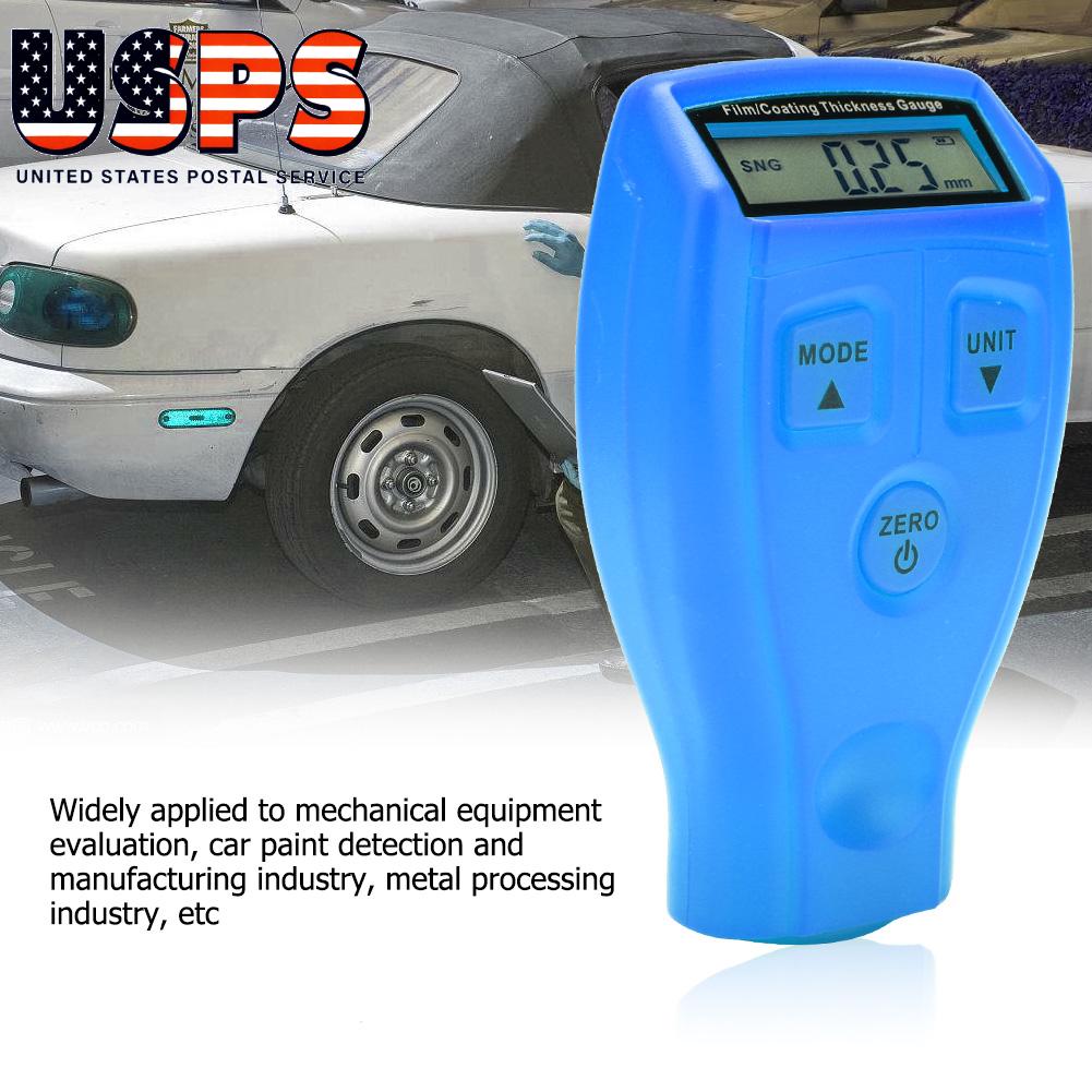 LCD Digital Car Paint Coating Thickness Tester Measuring Gauge Meter Portable