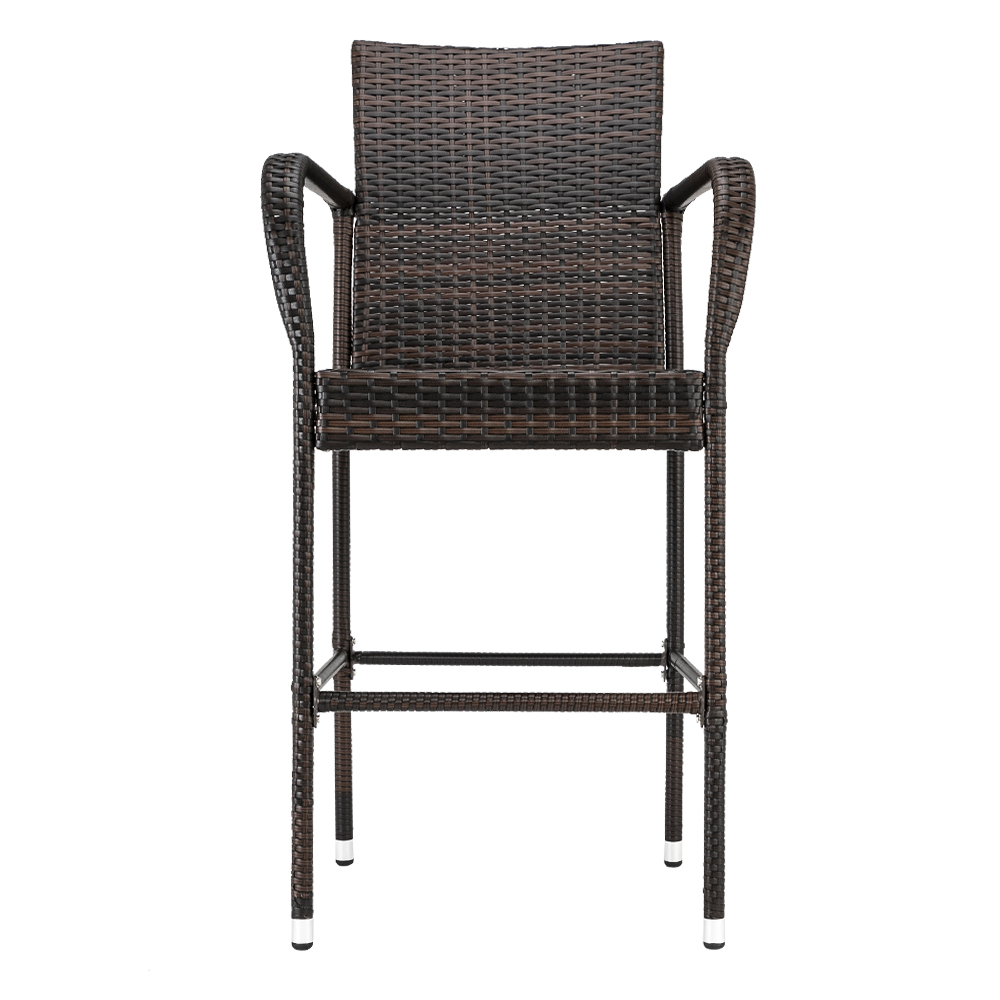 Amazing Details About 47 2 Pe Rattan Counter Height Bar Stool Dining Chair Accent Furniture Set Of 2 Evergreenethics Interior Chair Design Evergreenethicsorg