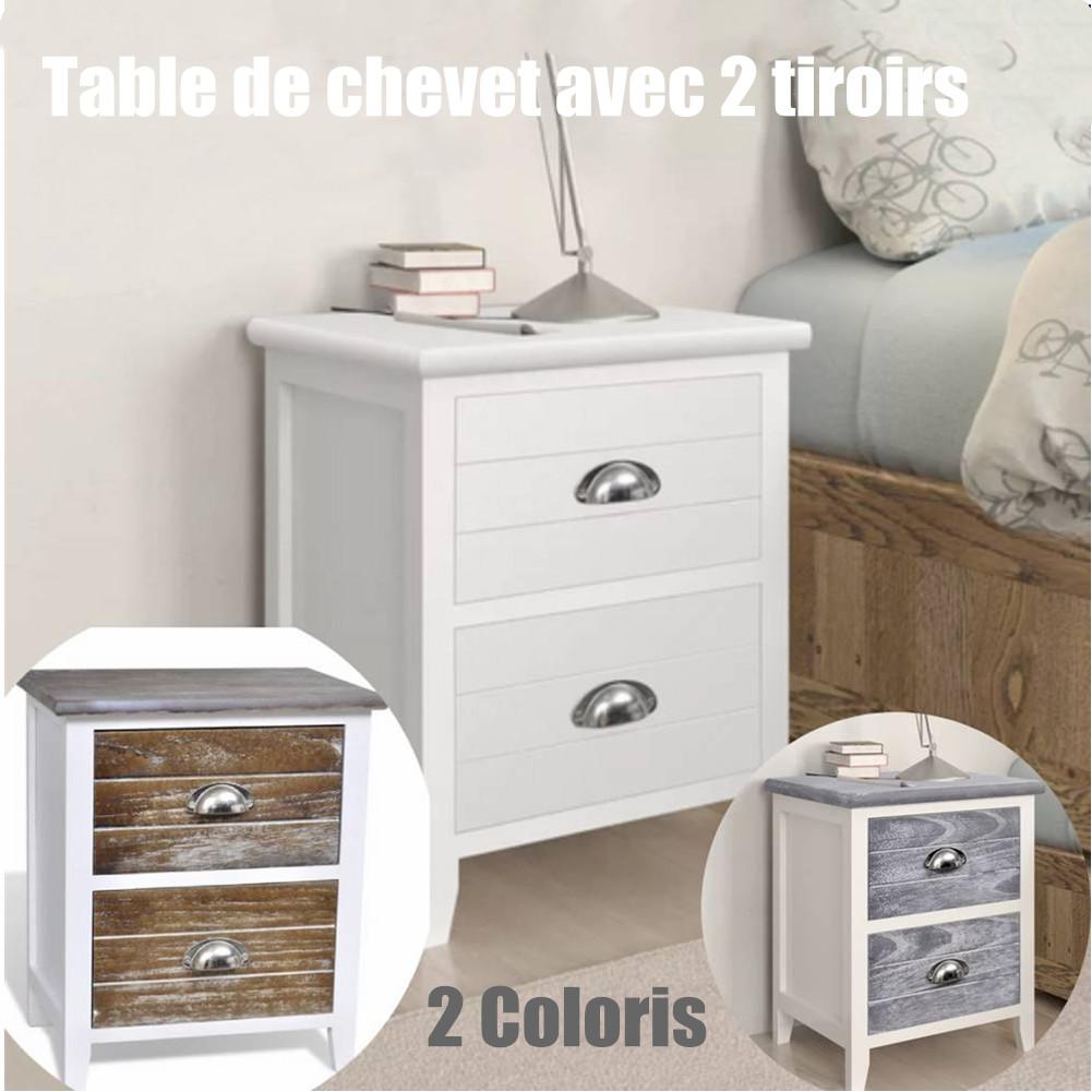 l'espace avec 2 tiroirs 38x28x45cm Détails chevet blanc de Économiser sur Table élégante de tsBrdCxQoh