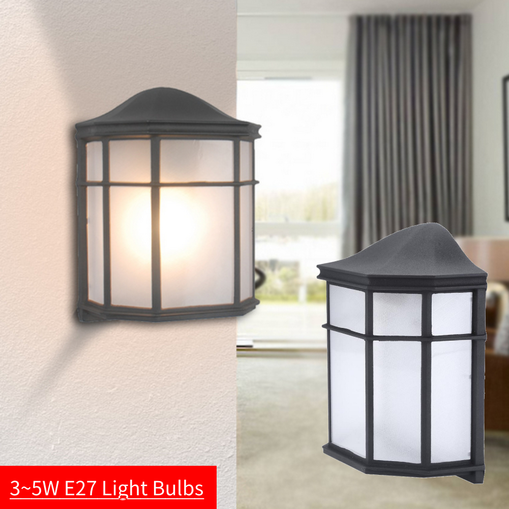 Details About Retro Exterior Wall Light Fixture Shade Outdoor Lantern Sconce Porch Lamp