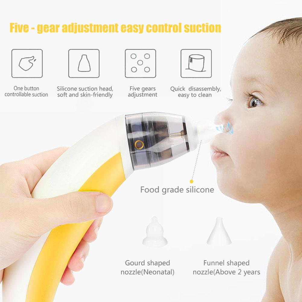 2 Düsen Elektrischer Nasensauger Baby Kinder Nasensauger Staubsauger Aspirator