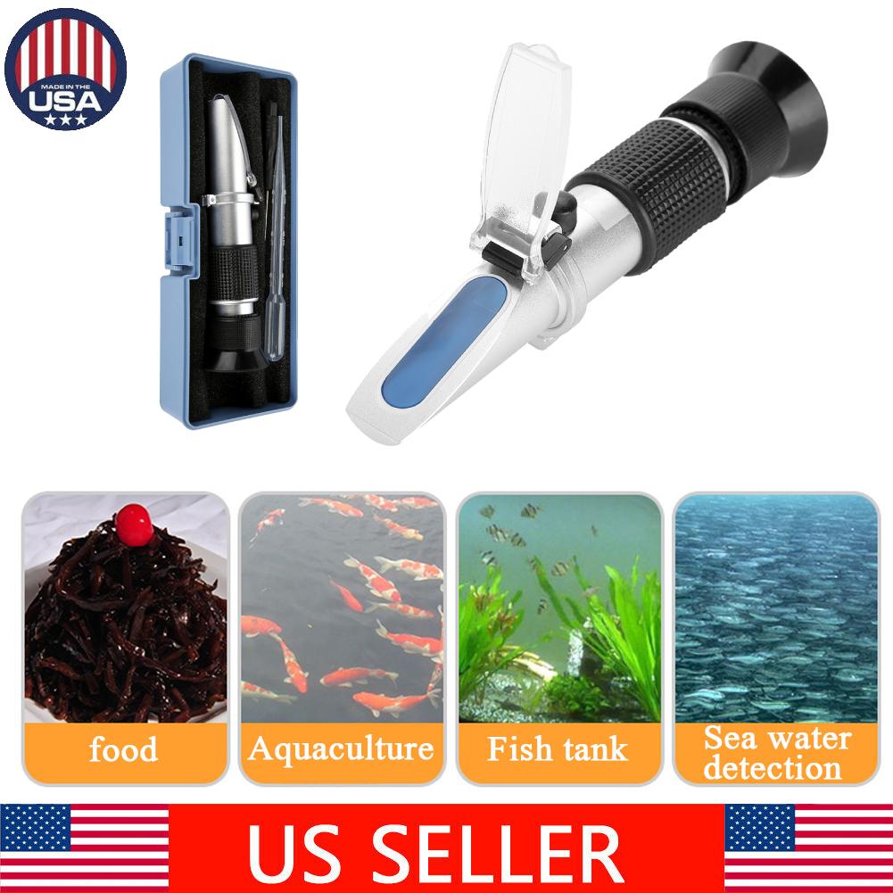Handheld refract/ómetro para tanque de peces de acuario marino Pruebas de salinidad Medidor de sal
