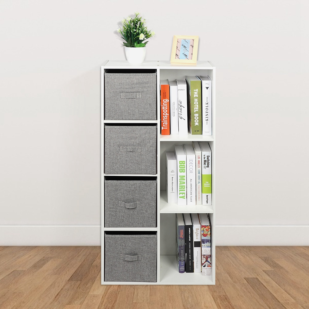 Cube Wall Bookcase Bookshelf 5//7 Cubby Shelves W// Drawers Display Stand Office