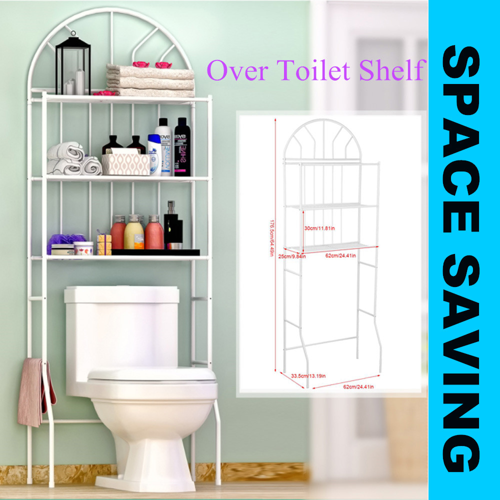 3tier Over The Toilet Storage Shelves