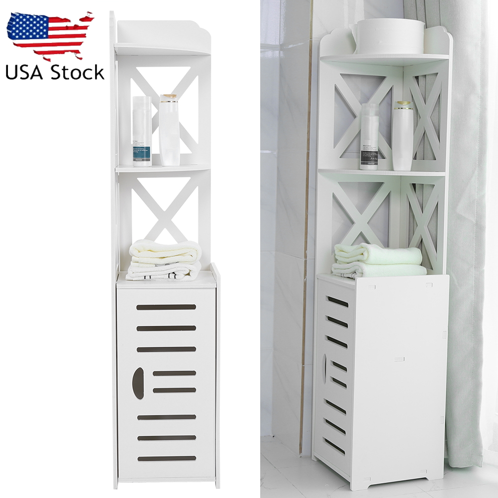 Wall Corner Bathroom Shelf Unit Image