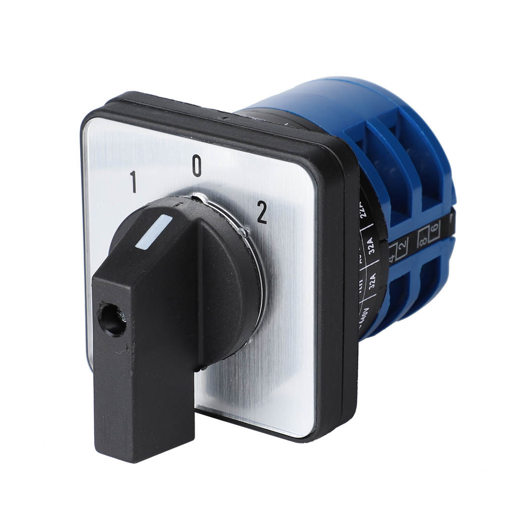 Griff Generator SEZ Nockenschalter 1-0-2 32A Drehschalter Umschalter 500V 3P
