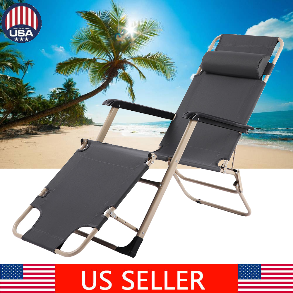 Excellent Details About Chaise Lounge Chair Folding Pool Beach Yard Adjustable Patio Furniture Recliner Pabps2019 Chair Design Images Pabps2019Com
